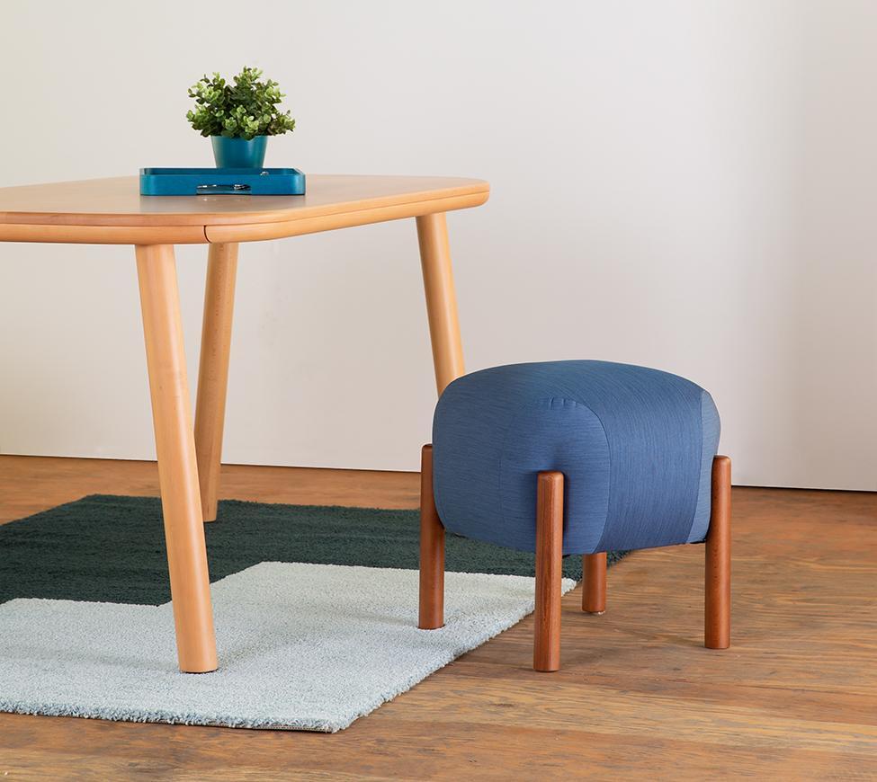 圓圓條凳w46(藍)-情境